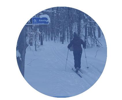 Ski de fond à Sainte-Adèle - Parc du Mont Loup Garou