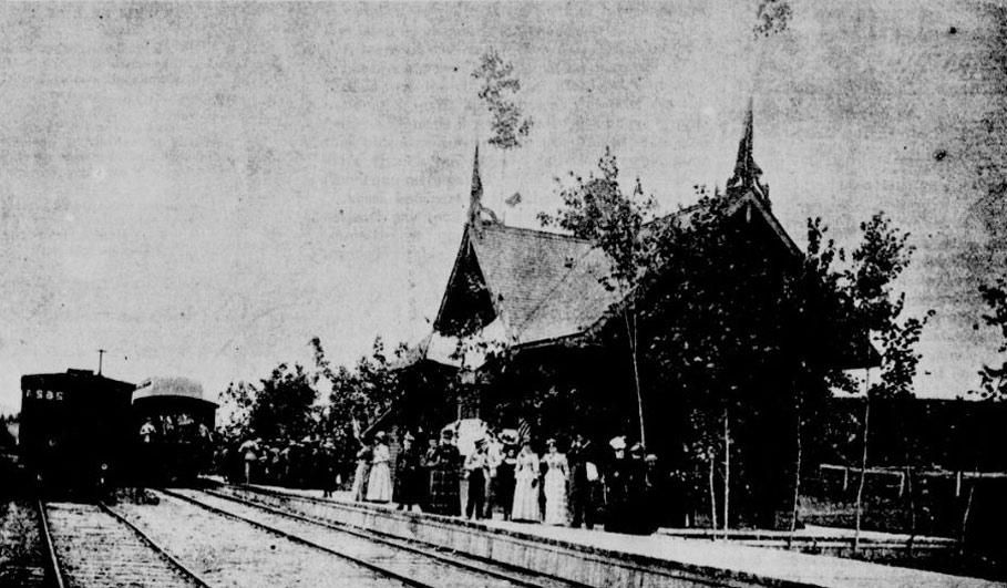 Gare de Sainte-Adèle, 1892 Source :  Le Monde illustré, 23 juillet 1892, page 137