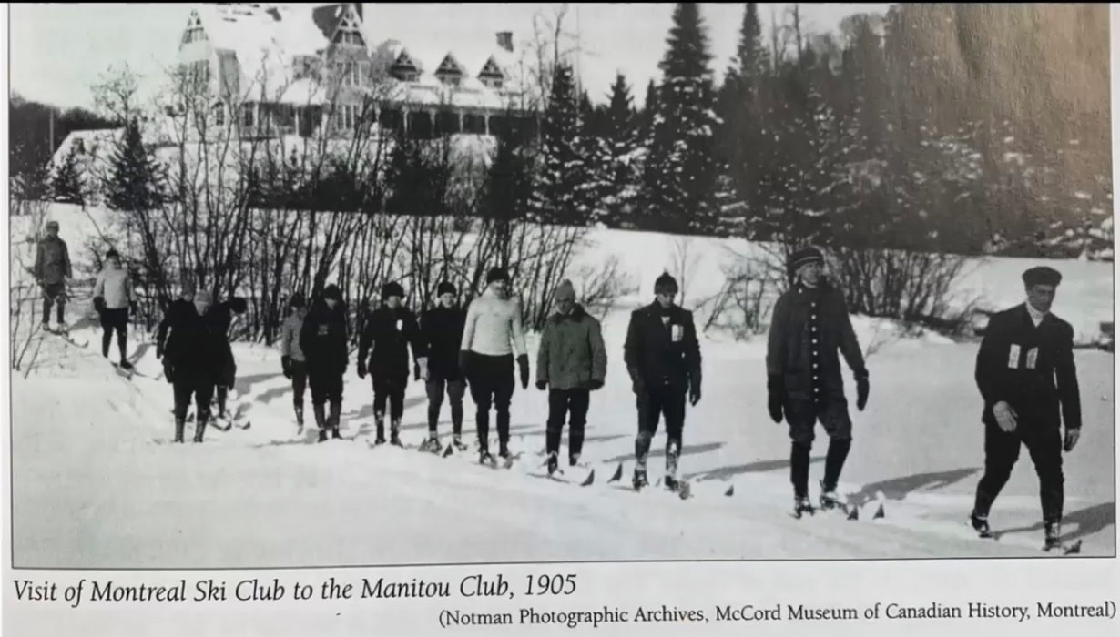 Visit of Montreal Ski Club to The Manitou Club, 1905 Source : Notman Photographic Archives, McCord Museum of Canadian History, Montreal