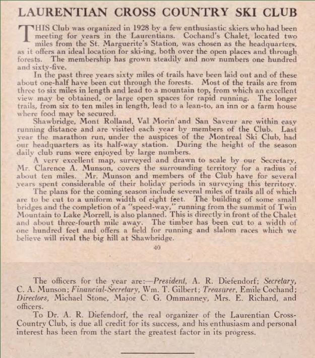 Le Chalet Cochand, vers 1937